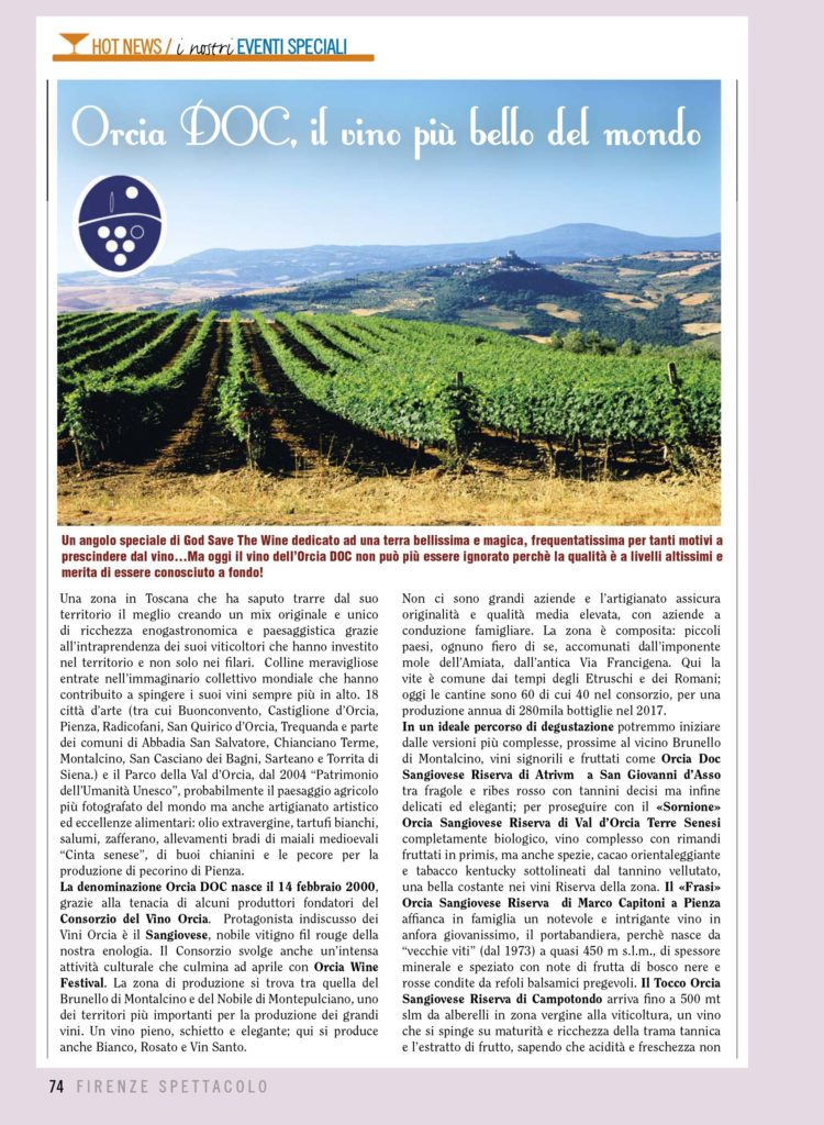 orcia firenze spettacolo god save the wine
